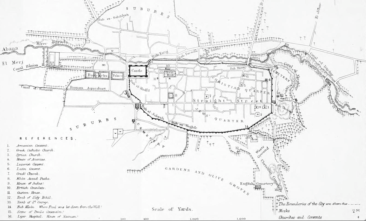 Map of Damascus 1855.png